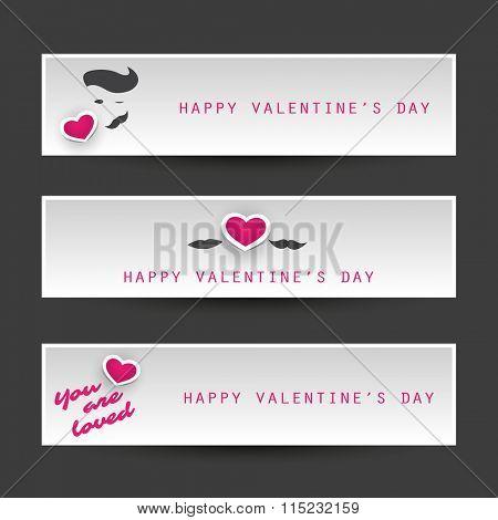 Valentine's Day Header Or Banner Design Templates
