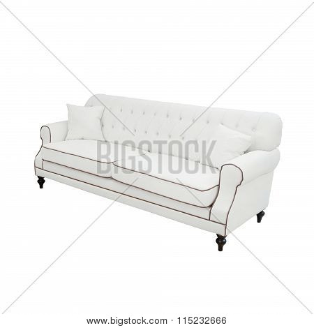 white Luxurious sofa