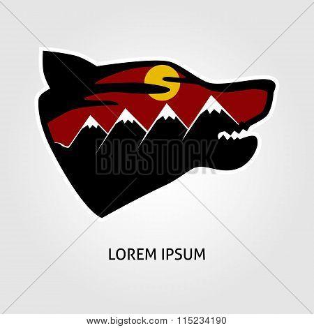 Pofessional wolf logo