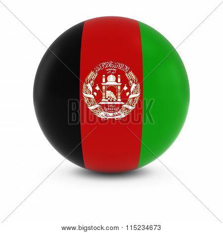 Afghan Flag Ball - Flag Of Afghanistan On Isolated Sphere
