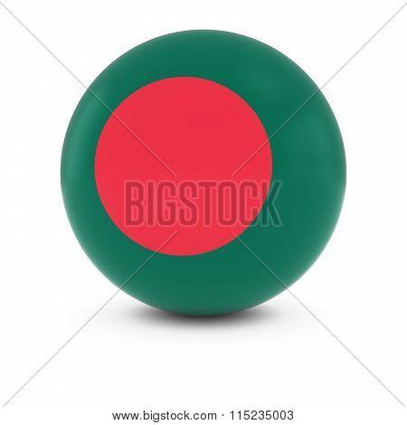 Bangladeshi Flag Ball - Flag Of Bangladesh On Isolated Sphere