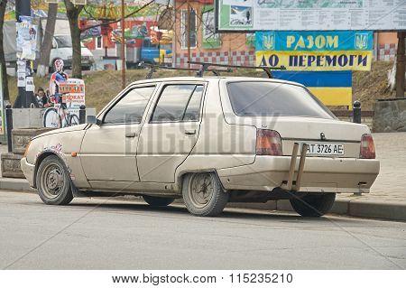 Car Zaz 1103 Slavuta At The Roadside