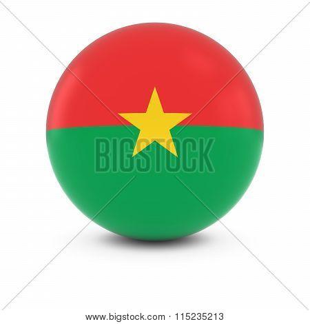 Burkinabe Flag Ball - Flag Of Burkina Faso On Isolated Sphere