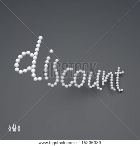 DISCOUNT. 3D Vector Text illustration. Usable for Different Business Design.