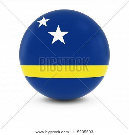 Curacaoan Flag Ball - Flag Of Curacao On Isolated Sphere