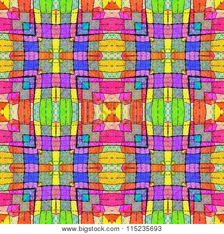 Multicolored Complex Geometric Seamless Pattern