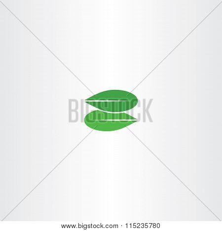 Green Leaf Letter Z Eco Logo Bio Icon
