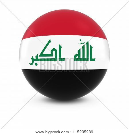 Iraqi Flag Ball - Flag Of Iraq On Isolated Sphere