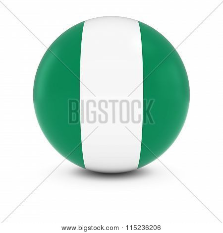Nigerian Flag Ball - Flag Of Nigeria On Isolated Sphere