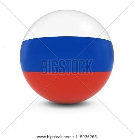 Russian Flag Ball - Flag Of Russia On Isolated Sphere