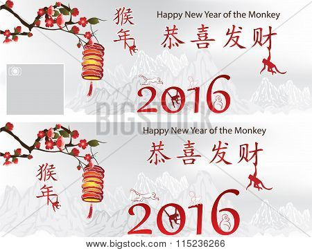 Backgrounds for Chinese New Year of the Monkey