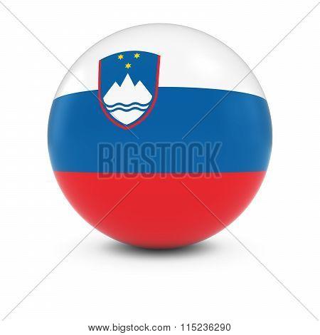 Slovenian Flag Ball - Flag Of Slovenia On Isolated Sphere