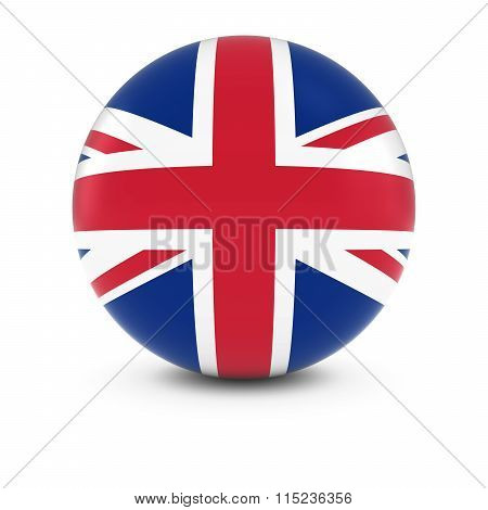 Uk Flag Ball - Flag Of The United Kingdom On Isolated Sphere