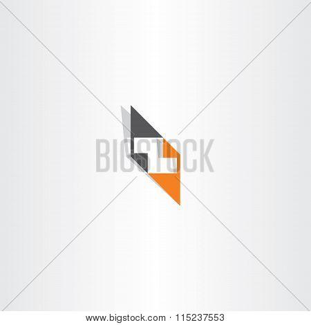 Orange Black Letter Z Logo Vector Element