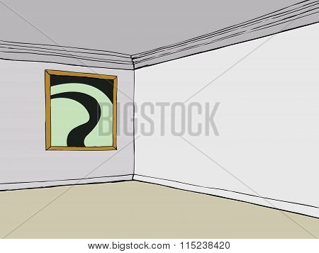 Empty Room With Abstract Picture