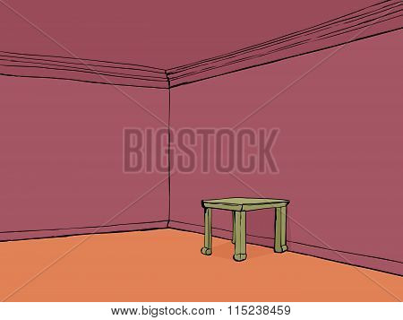Red Room With Table