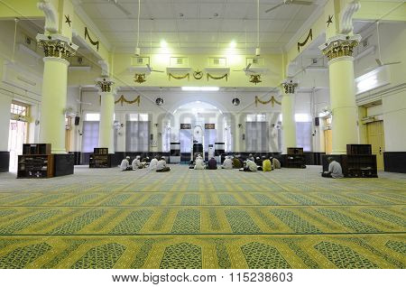 Interior of the Muhammadi Mosque or The Kelantan State Mosque in Kelantan