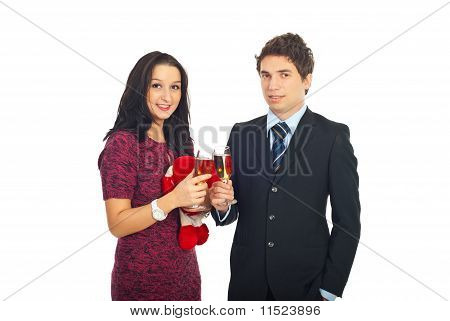 Couple Celebrate Valentine Day