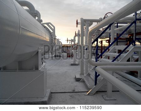 The Area Of  Equipment To Cool The Oil Product