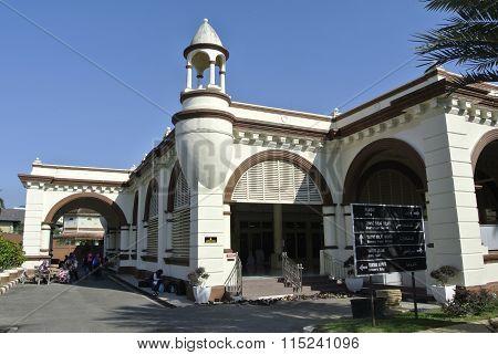 The Muhammadi Mosque or The Kelantan State Mosque in Kelantan, Malaysia