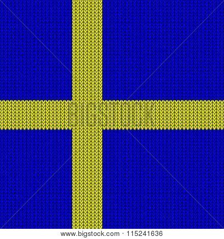 Knitted Flag Of Sweden