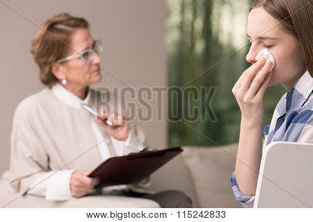 Crying Young Girl