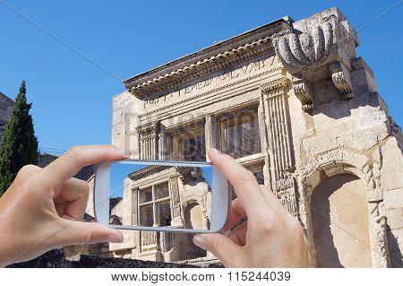 Taking Pictures In Les Baux De Provence