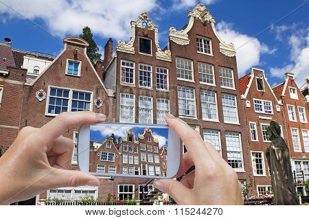 Taking Pictures Of Architecture In Amsterdam (netherlands)