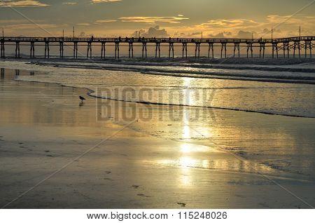 Sunrise at Sunset Beach Pier