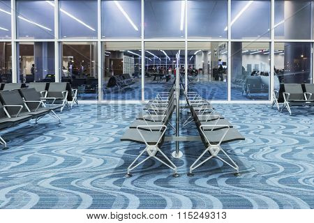 Atlanta - January 19, 2016: Atlanta International Airport, Interior, Ga. Serving 89 Million Passenge