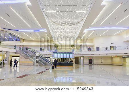 Atlanta - January 19, 2016: Atlanta International Airport, Interior, Ga.