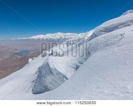 peak of Muztagh Ata, china.