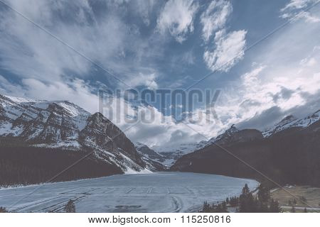 banff national park in winter, canada.