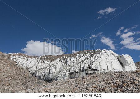 landscape of the peak of Muztagh, China.