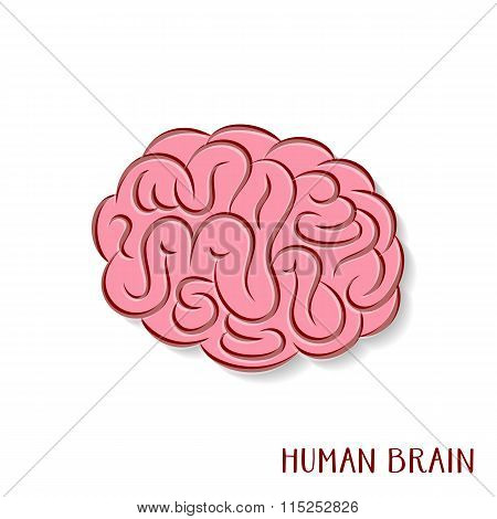 Abstract Human Brain Icon
