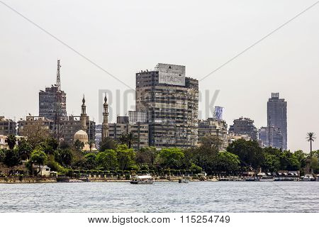 The House On The Quays On The River Nile In Cairo.egypt