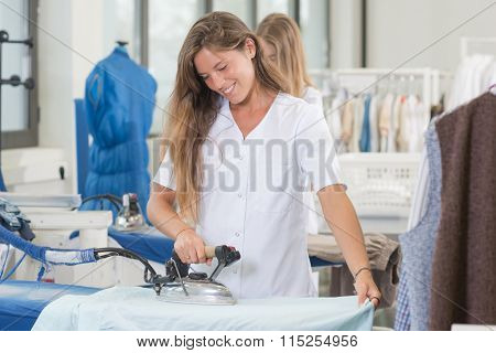 girls ironing
