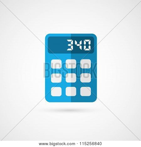 Vector illustration of business concept with calculator icon.