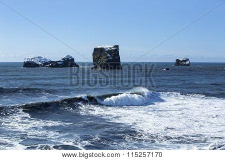 Basalt Stones In The Ocean, Vik, Iceland
