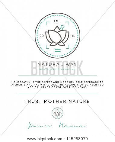 PREMIUM BRAND & LOGO CONCEPT FOR HOMEOPATHIC OR NATURAL COSMETIC PRODUCTS COMPANY OR PROFESSIONAL
