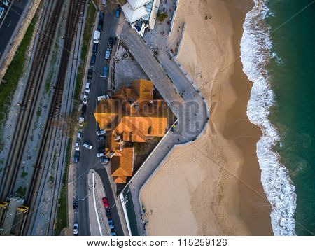 Portugal Lisbon's Coast Estoril beach and fortified mansion