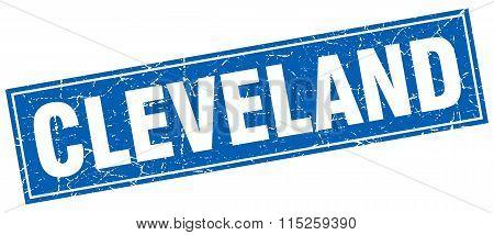 Cleveland blue square grunge vintage isolated stamp