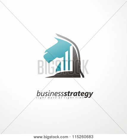 Business strategy logo design concept