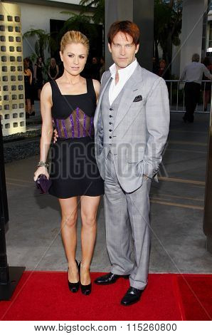 HOLLYWOOD, CALIFORNIA - June 21, 2011. Anna Paquin and Stephen Moyer at the HBO's season 4 premiere of