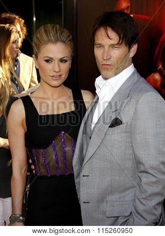 Anna Paquin and Stephen Moyer  at the HBO's Season 4 Premiere of