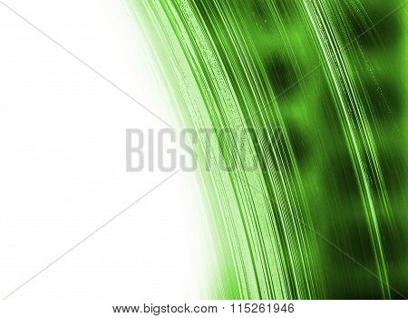 Green Abstract Structure With White Copy Space