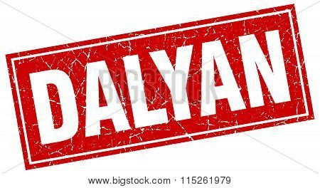 Dalyan red square grunge vintage isolated stamp