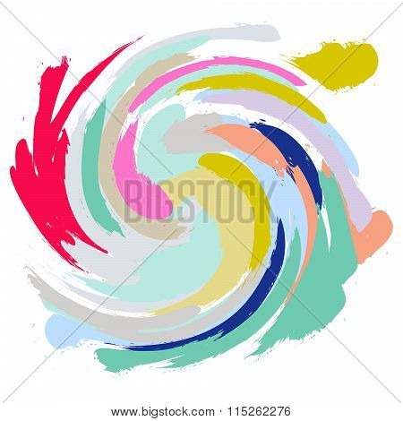 Acrylic Paint Brush Stroke Imitation.