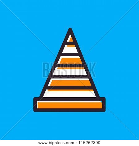 Traffic Cone Icon.vector Illustration.