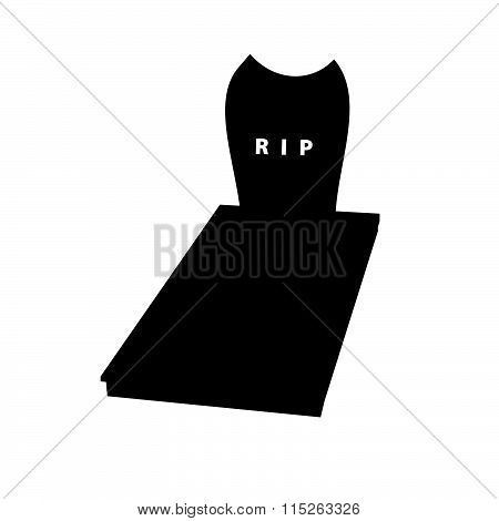Gravestone Illustration In Black